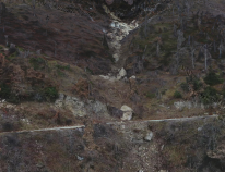 Valle di Panico Rockslide after October 2016 Earthquake