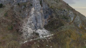 SP 134 Rockfall after October 2016 Earthquake