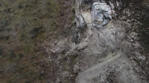 SP 134 Rockslide after October 2016 Earthquake